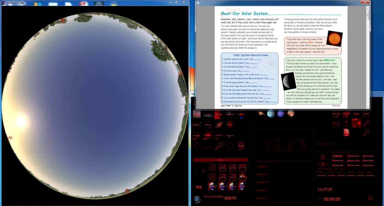stellarium console - open pdf files