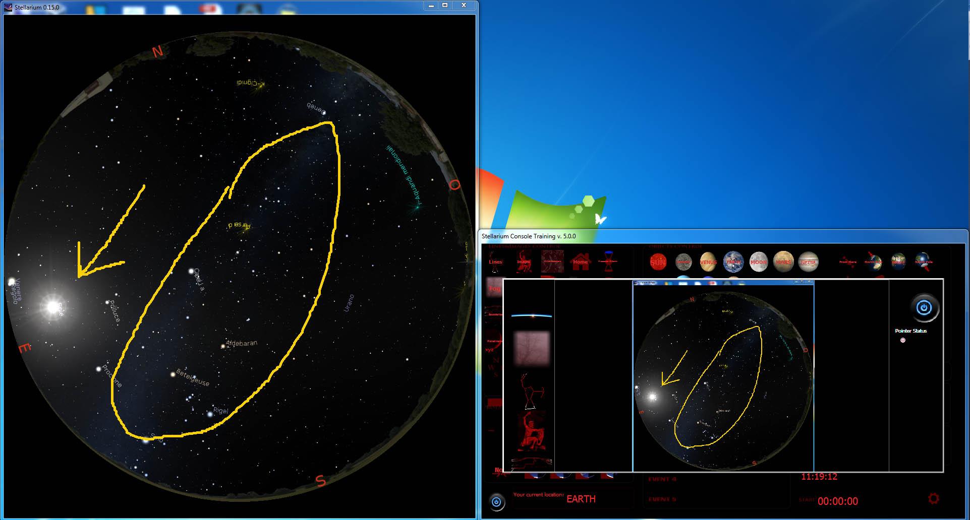stellarium console - write on stellarium